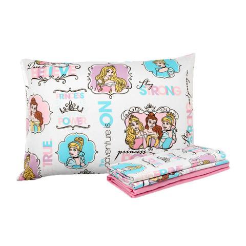 Imagem de Kit Infantil Princesas Power Disney Edredom + Jogo De Cama Santista