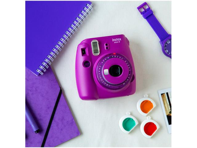 Imagem de Kit Instax Mini 9 Fujifilm Roxo Açaí