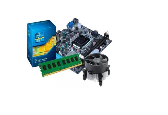 Imagem de Kit Intel Core I5 2500 3.3 Ghz + Placa H61 1155 + 8 Gb 1600