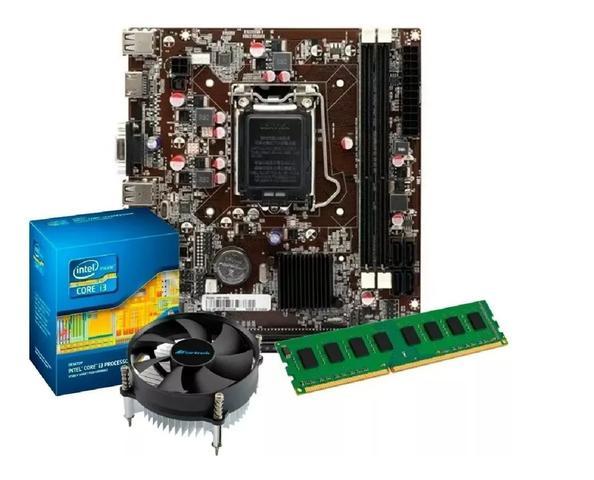 Imagem de Kit Intel Core I5 3470 3.6 Ghz + Placa H61 + 8gb Ram