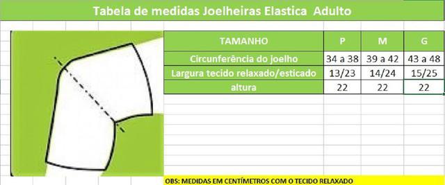 Imagem de Kit Joelheira e Cotoveleira Acolchoada Elástica de VôleI, Futsal e MMA