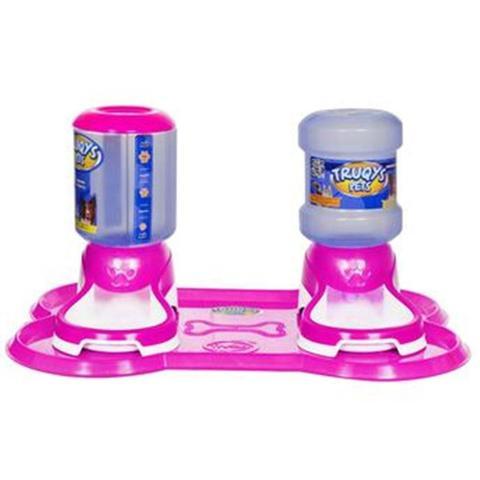 Imagem de Kit jogo americano premium comedouro e bebedouro rosa