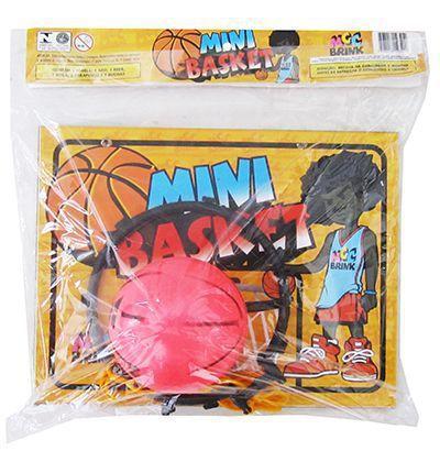 Imagem de Kit jogo de basquete com tabela + aro + bola mini