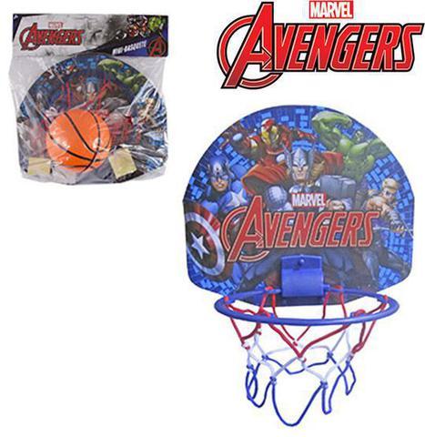 Imagem de Kit jogo de basquete mini vingadores / avangers com tabela+ aro + bola