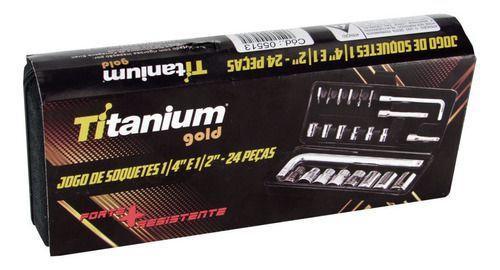 Imagem de Kit Jogo De Ferramentas e Soquetes 224 Peças Completo Titanium