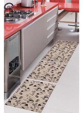 Imagem de Kit Jogo de Tapetes Para Cozinha 3 Peças Allegra