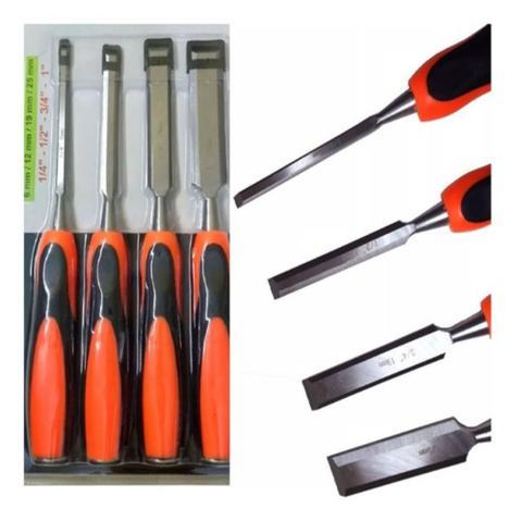 Imagem de Kit jogo formao 4 pecas 6 a 25mm para entalhar madeira ferramenta profissional idea