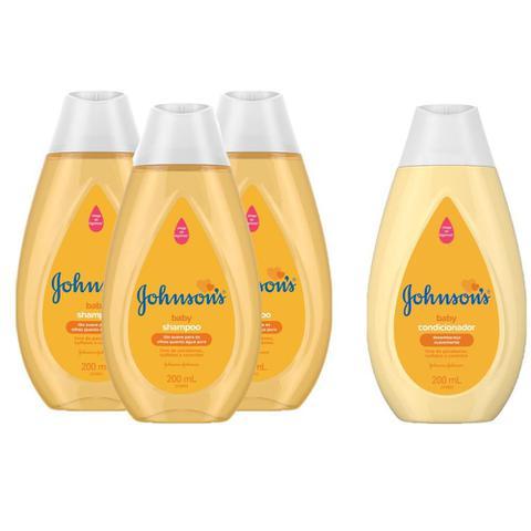 Imagem de Kit Johnson's Baby Regular 200ml: 3 Shampoos + Condicionador