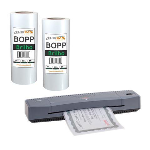Imagem de Kit Laminadora Aurora A3 + BOPP A4 + BOPP A3 Brilho Marpax 110V