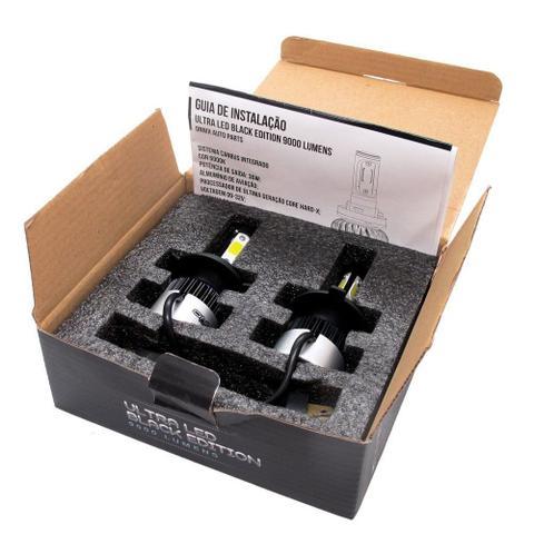 Imagem de Kit Lâmpada Onnix Ultra Led Black 3D H4 12V 36W 6000k 9000 Lumens