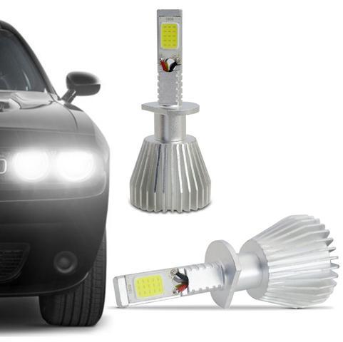 Imagem de Kit Lâmpada Super LED 2D Headlight H1 6000K 12V 24V 6400LM Efeito Xênon Carro Caminhão