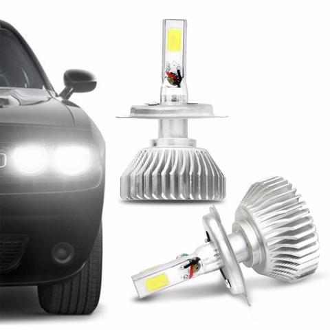 Imagem de Kit Lâmpada Super LED 3D H4 6000K 12V 24V 9000LM Efeito Xênon Carro e Caminhão Branco