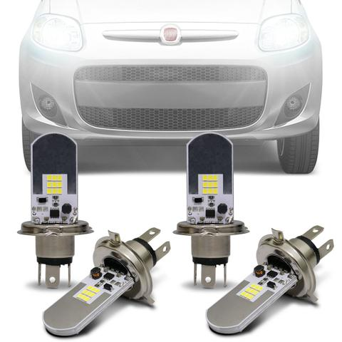 Imagem de Kit Lâmpadas LED Autopoli Fiat Palio G5 2012 A 2013 H4 6500K Efeito Xênon Farol Alto e Baixo