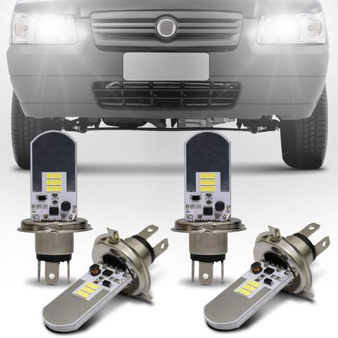 Imagem de Kit Lâmpadas LED Autopoli Fiat Uno 1984 A 2010 H4 6500K Efeito Xênon Farol Alto e Baixo