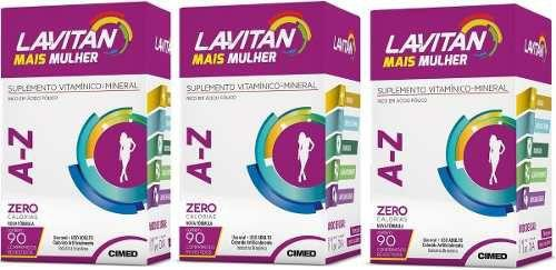 Imagem de Kit Lavitan Mais Mulher c/3x90 vitaminas melhor que Centrum