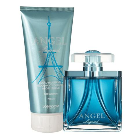 Imagem de Kit Legend Angel For Women com Perfume Feminino edp e Hidratante Perfumado Lonkoom