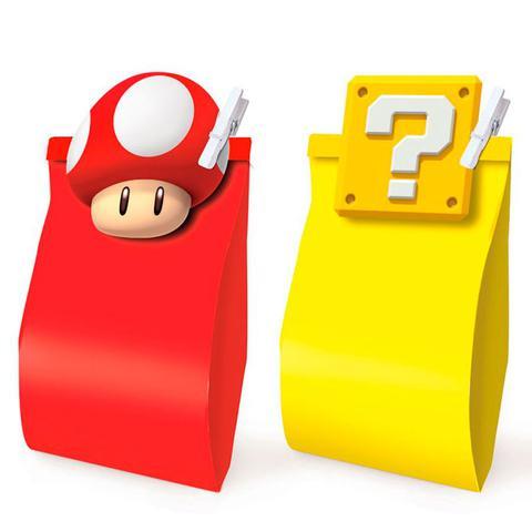 Imagem de Kit Lembrancinha Sacola e Prendedor Super Mario Bros 10 unidades - Cromus