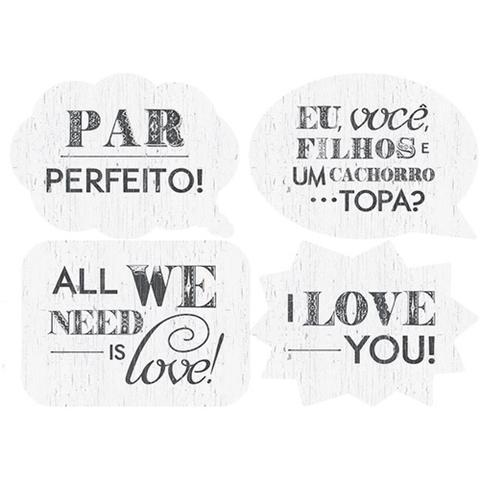 Imagem de Kit Linha Selfie Litoarte LLS-003 30,5x22cm com 4 Folhas Diferentes All We Need is Love