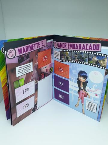 Imagem de Kit Livro Ilustrado Album Miraculous Lady Bug + 5 Envelopes