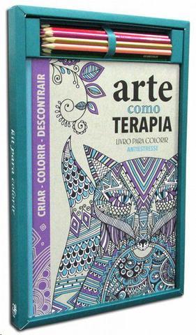 Imagem de Kit livro para colorir: arte como terapia