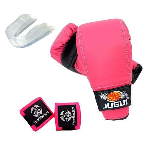 Imagem de Kit Luva Bate Saco + Bandagem + Protetor bucal Lutas MMA
