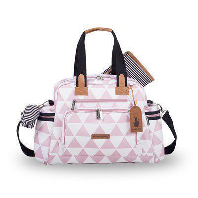 Imagem de Kit mala de rodinha com bolsa de maternidade e mochila Manhattan rosa - Masterbag Baby