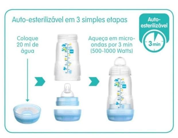 Imagem de Kit Mamadeira 2 Peças 130ml e 260ml Anticolica Easy Start