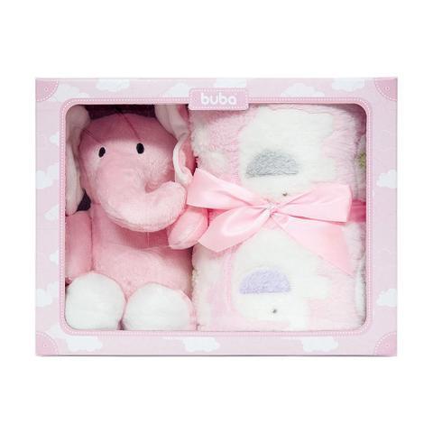 Imagem de Kit manta + elefantinho rosa- buba baby