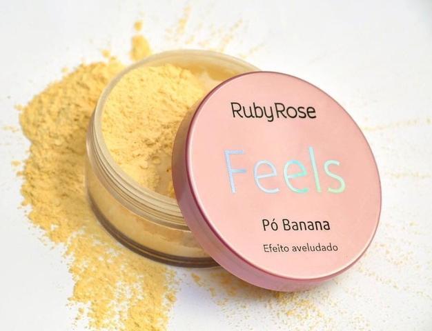 Imagem de Kit Maquiagem Ruby Rose Feels com Base Corretivo Pó Banana Máscara de Cílios Batom