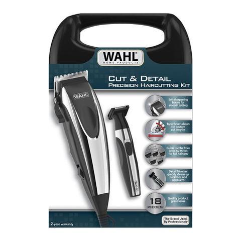 Imagem de Kit Máquina de Cortar Cabelo e Aparador Wahl Cut & Detail - 220V