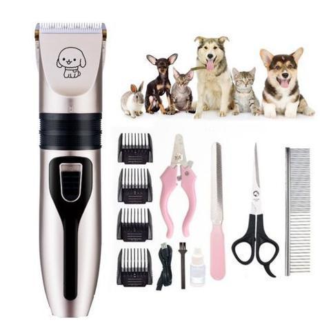 Imagem de Kit Maquina Tosa para Cães e Gatos Profissional Aparadora Alicate Tesoura Pente Cachorro Gatos Pet Kit Cortar Pelos Cach