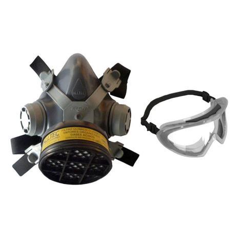 Imagem de Kit Máscara De Pintura Carvão Ativado E Óculos Segurança