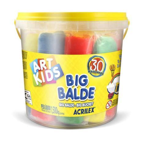 Imagem de Kit Massa Modelar Soft Big Balde com 30 Massinhas Acrilex