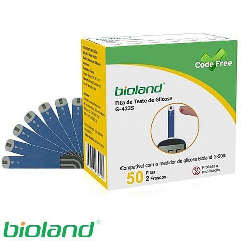 Imagem de Kit Medidor de Glicose + 225 Fitas para Glicosímetro Bioland Modelo G500