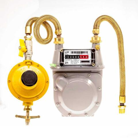 Imagem de Kit Medidor Lao G-1,6 + Regulador 12kg/h Lj