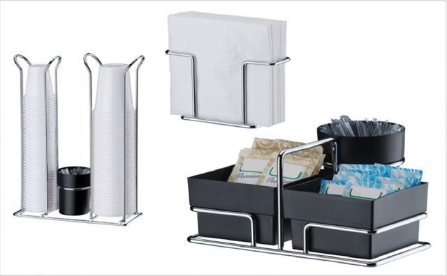 Imagem de Kit mesa 3 peças branco Future porta copo descartavel suporte guardanapo sache açucar chá cafe mexedor