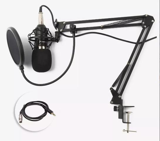 Imagem de Kit Microfone Estúdio Bm800 + Pop Filter + Braço Articulado