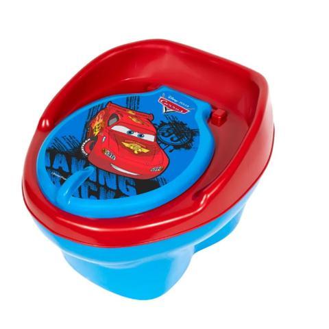 Imagem de Kit Mictório Infantil Sapinho Azul/Azul + Troninho Disney Carros 2 em 1