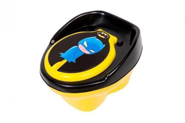 Imagem de Kit Mictorio Infantil Sapinho Azul com Amarelo/Amarelo + Troninho Batman Still Baby Amarelo