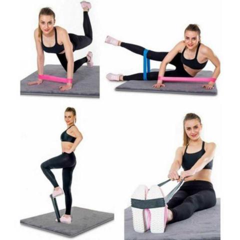 Imagem de Kit Mini Band 5 Faixas elásticas Exercício Funcional pilates ginástica 891 - Lorben