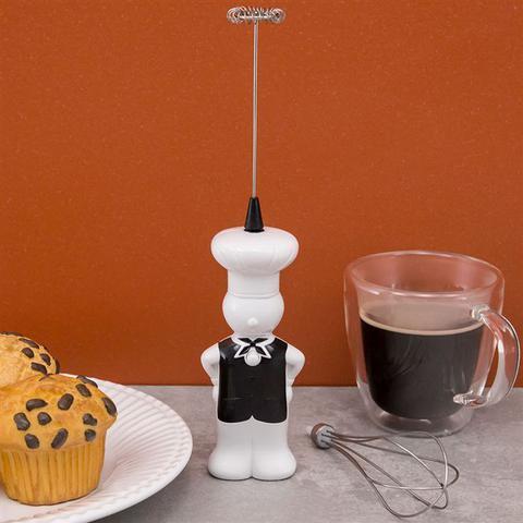 Imagem de Kit mini batedeira e mixer portatil com fue e batedor decorativo luxo