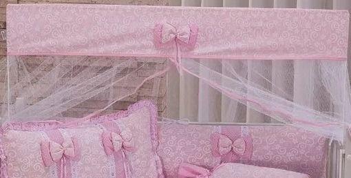 Imagem de Kit Mini Berço 10 Peças - Doce Encanto Rosa