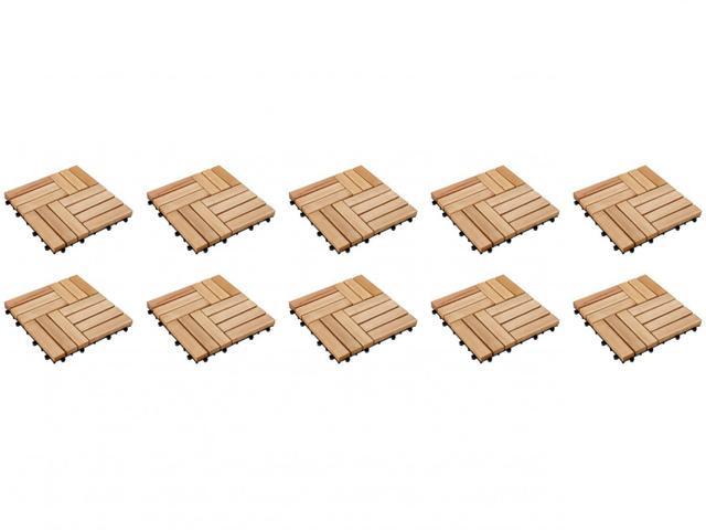 Imagem de Kit Mini Deck Modular de Madeira de Eucalipto