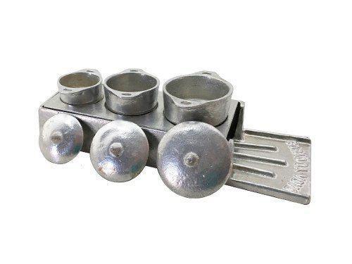 Imagem de Kit Miniatura Fogão A Lenha Alumínio Batido Porções