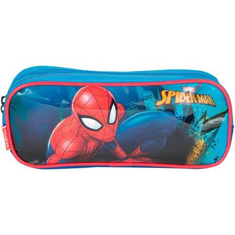 Imagem de Kit mochila 3D Spider Man infantil rodinhas com lancheira e estojo Sestini