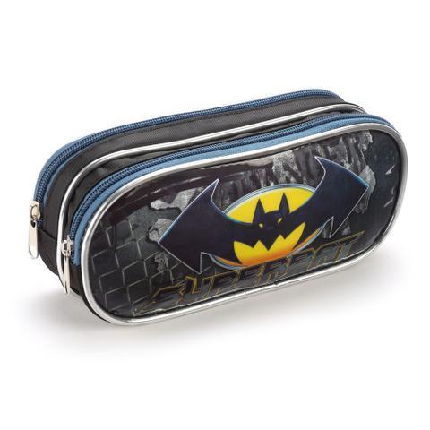 Imagem de Kit Mochila Infantil Meninos Escolar Morcego Com Lancheira Estojo Kit Material Escolar