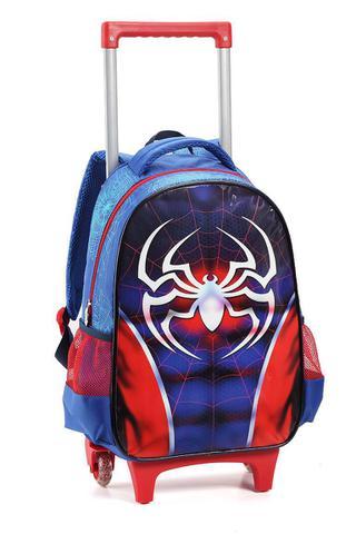 Imagem de Kit Mochila Rodinhas Infantil Masculino Dark Spider Seanite