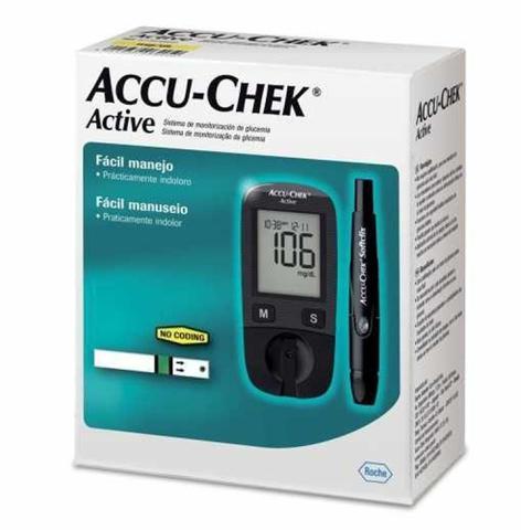 Imagem de Kit Monitor Accu-Chek Active Controle de Glicemia - Roche