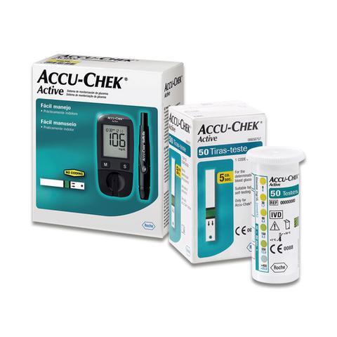 Imagem de Kit Monitor Accu-Chek + Cx.50 Tiras Active - Roche