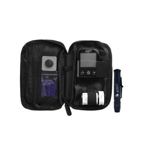 Imagem de Kit Monitor Glicose Medir Glicemia 100 Tiras 100 Lanc G-tech